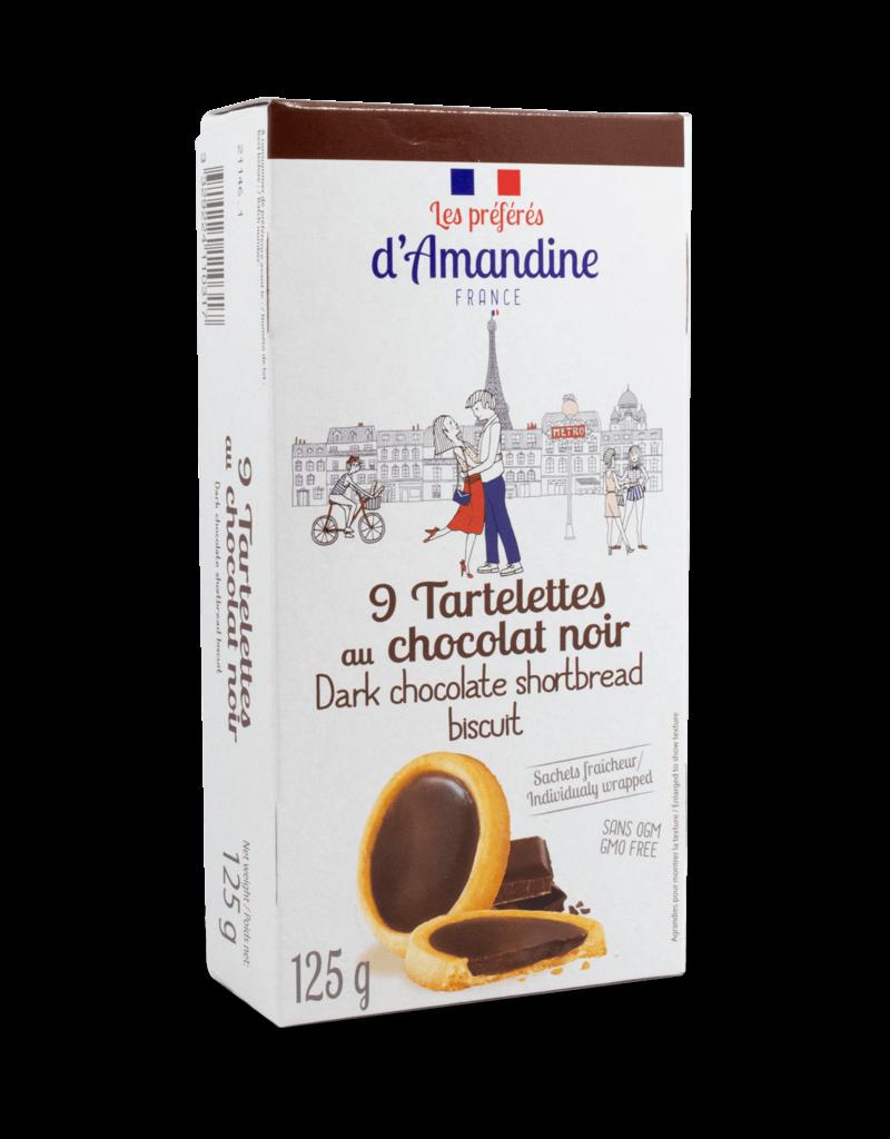 D'Amandine D'Amandine Dark Chocolate Shortbread Cookies 125g