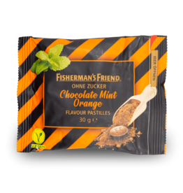 Fisherman's Friend Chocolate Mint Orange Sugar Free 30g
