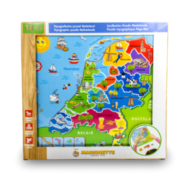 Marionette Wooden Puzzle - Holland Map