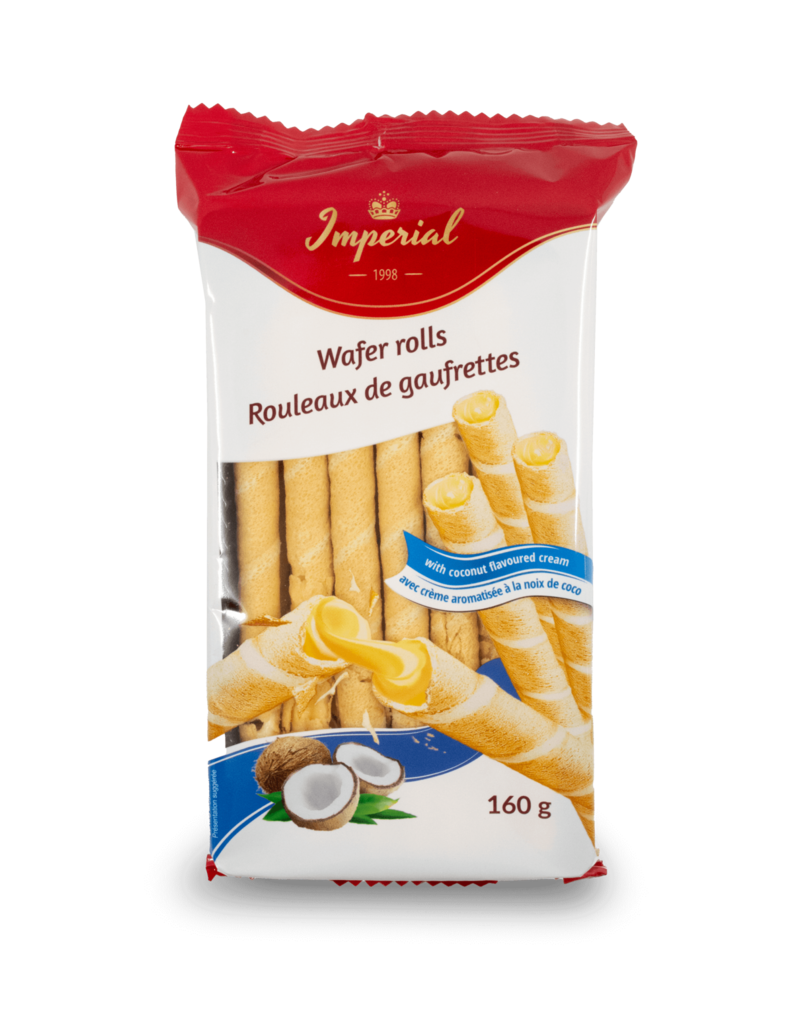 Imperial Imperial Wafer Rolls with Coconut 160g