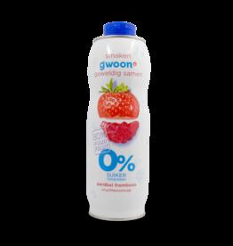 Gwoon Juice Syrup - Strawberry Raspberry Sugar Free 750ml