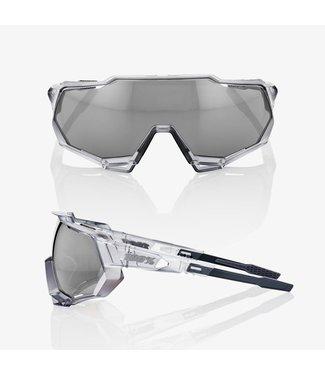 100% SpeedTrap Matte Trans Crystal Grey-Hyper silver mirror