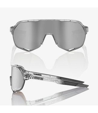 100% S2 Polished Trans grey- Hiper Silver Mirror Lens