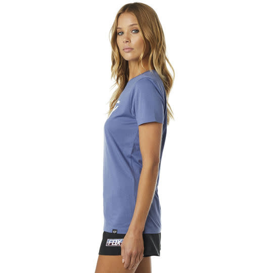 WOMENS FOX BOLTED SS CREW [BLUE] M