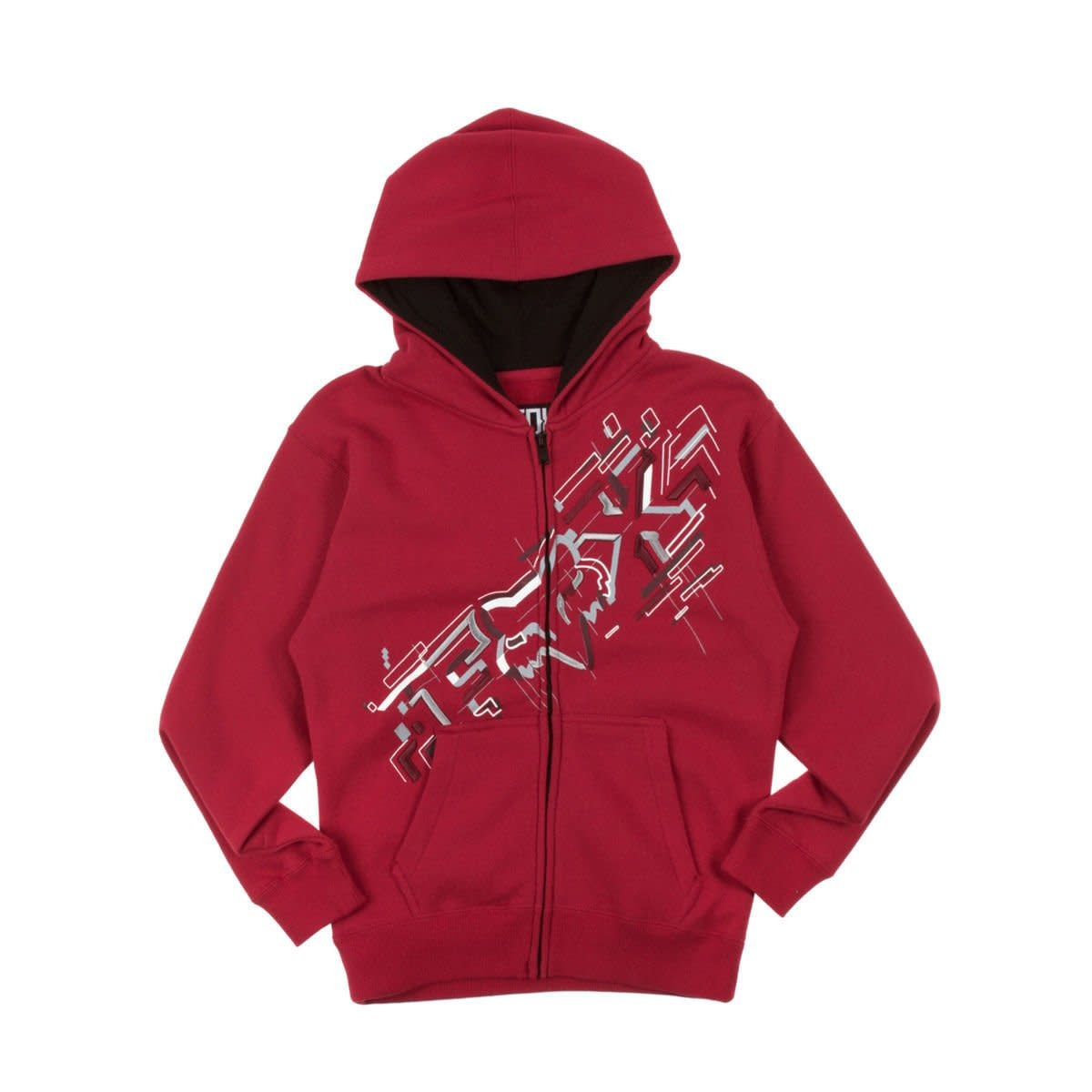 Fox Youth Schematica ZIP Hoody YL Red