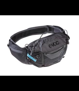 EVOC EVOC HIP PACK PRO 3L + 1.5L BLADDER CARBON GREY/CHILLI RED