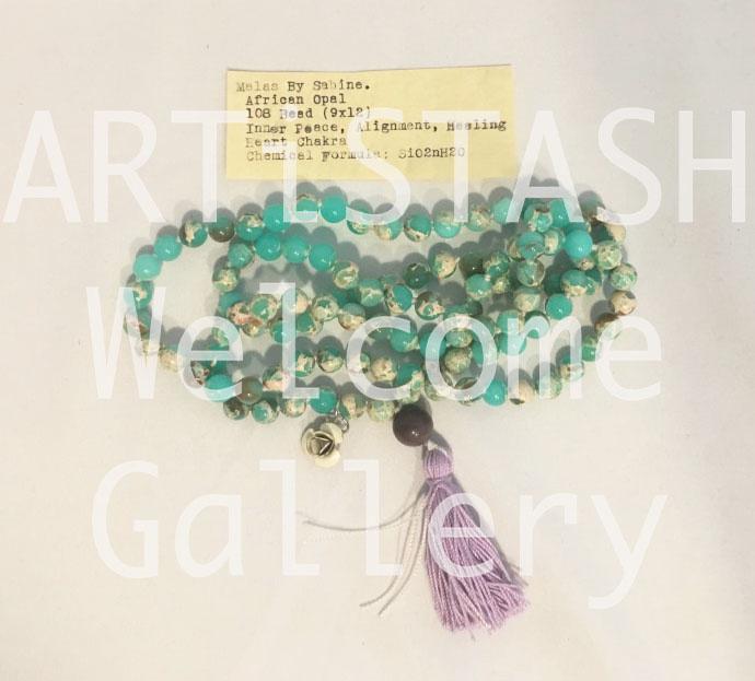 Just Sabine Mala Beads, African Opal, 108 Beads