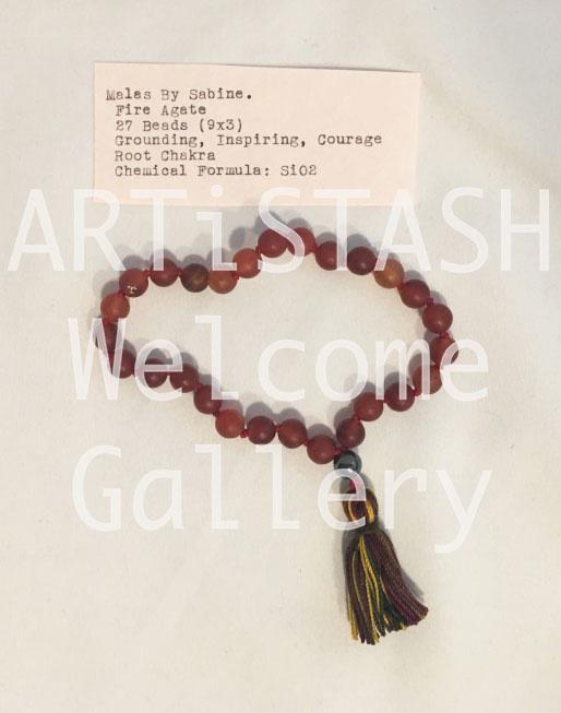 Just Sabine Mala Beads, Fire Agate, 27 Beads