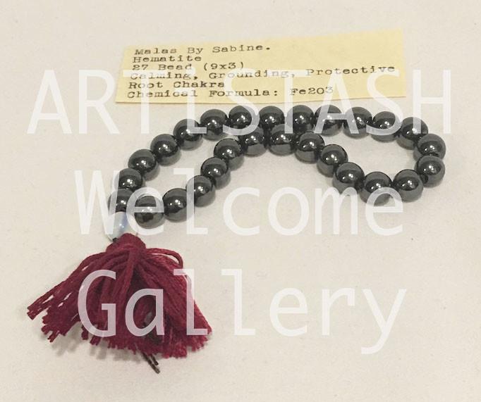 Just Sabine Mala Beads, Hematite, 27 Beads