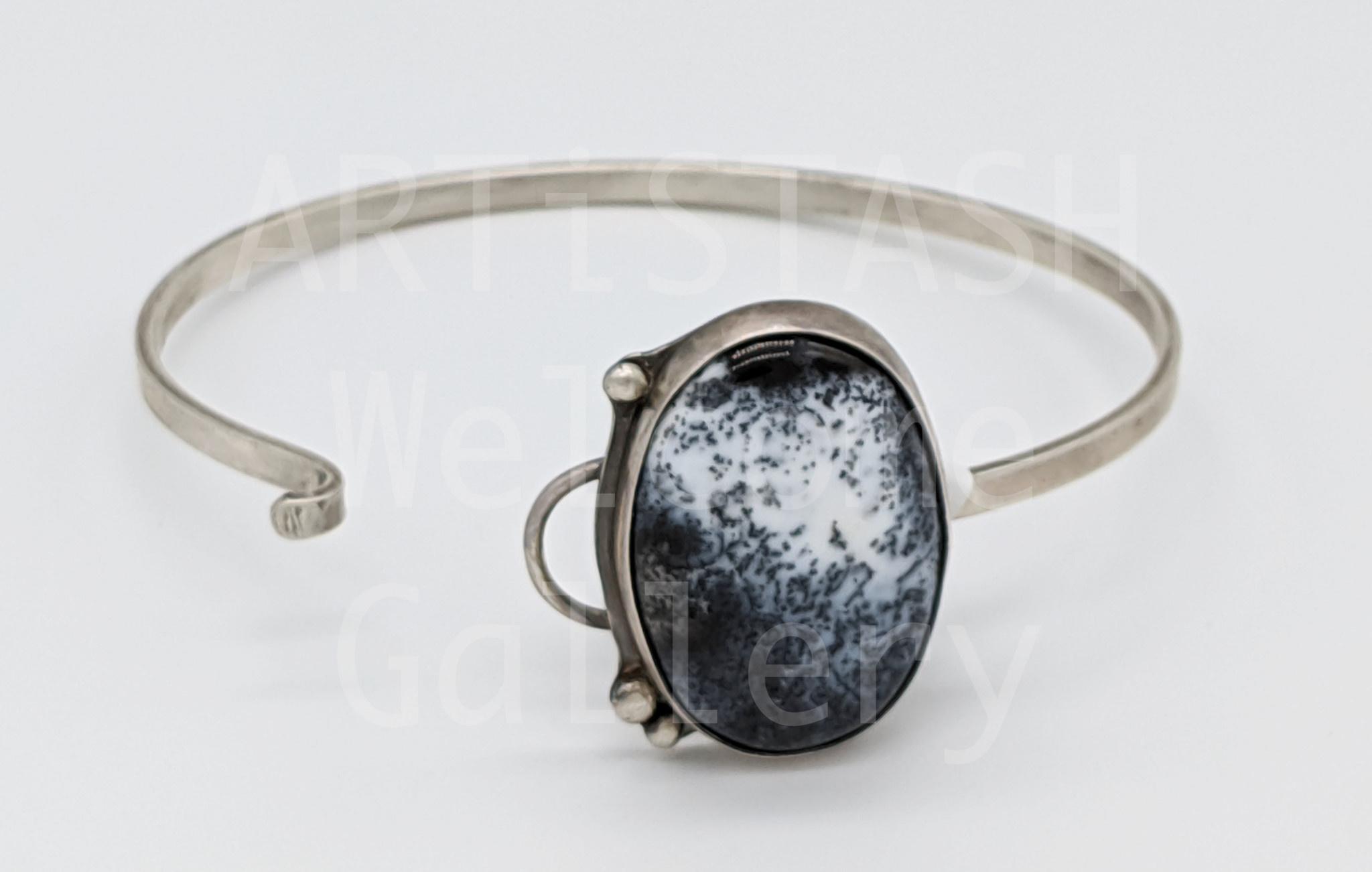 Sarilynn Studio Dendrite Agate Oval Cuff