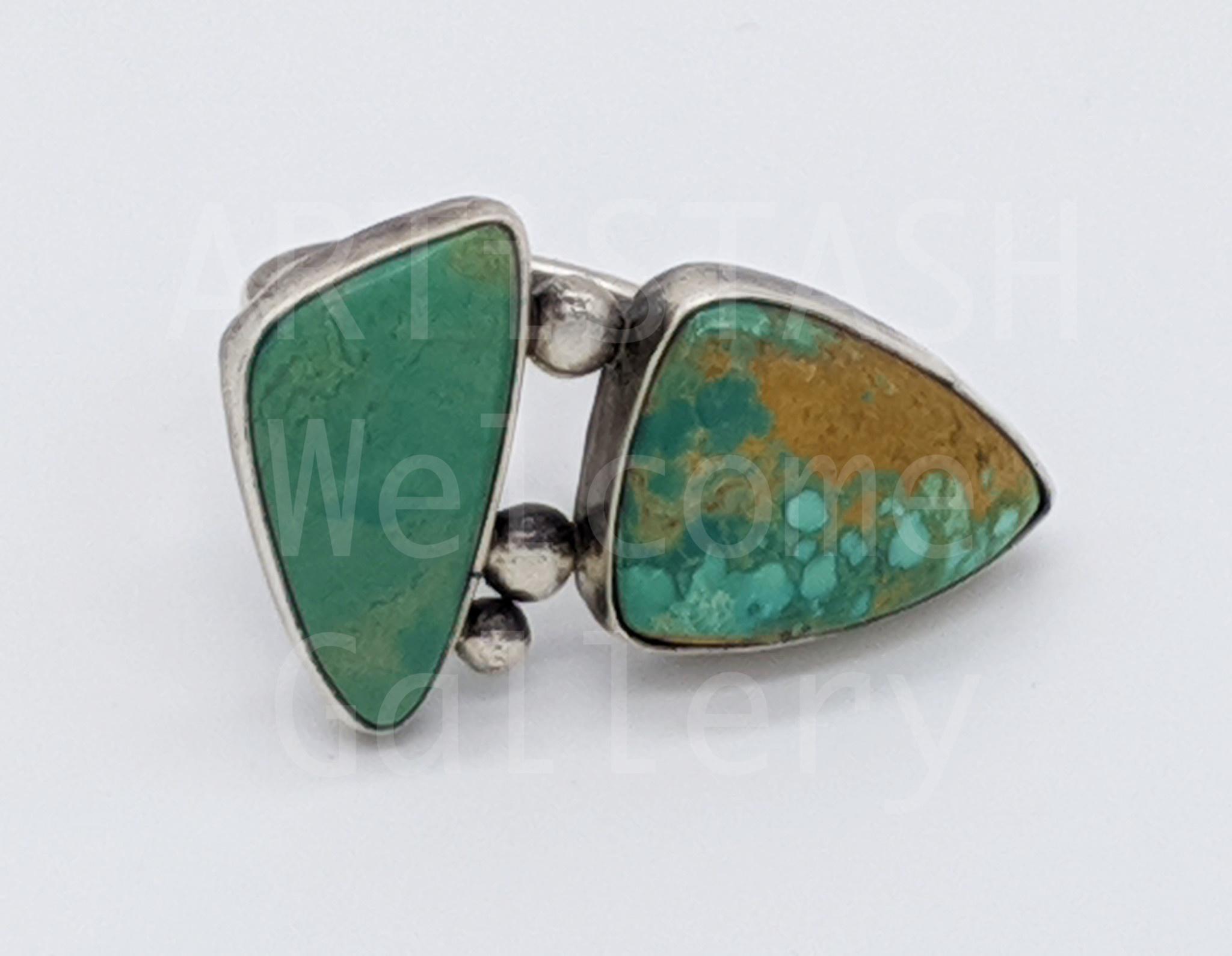 Sarilynn Studio Turquoise Larimar Ring Size 8 Sterling Silver