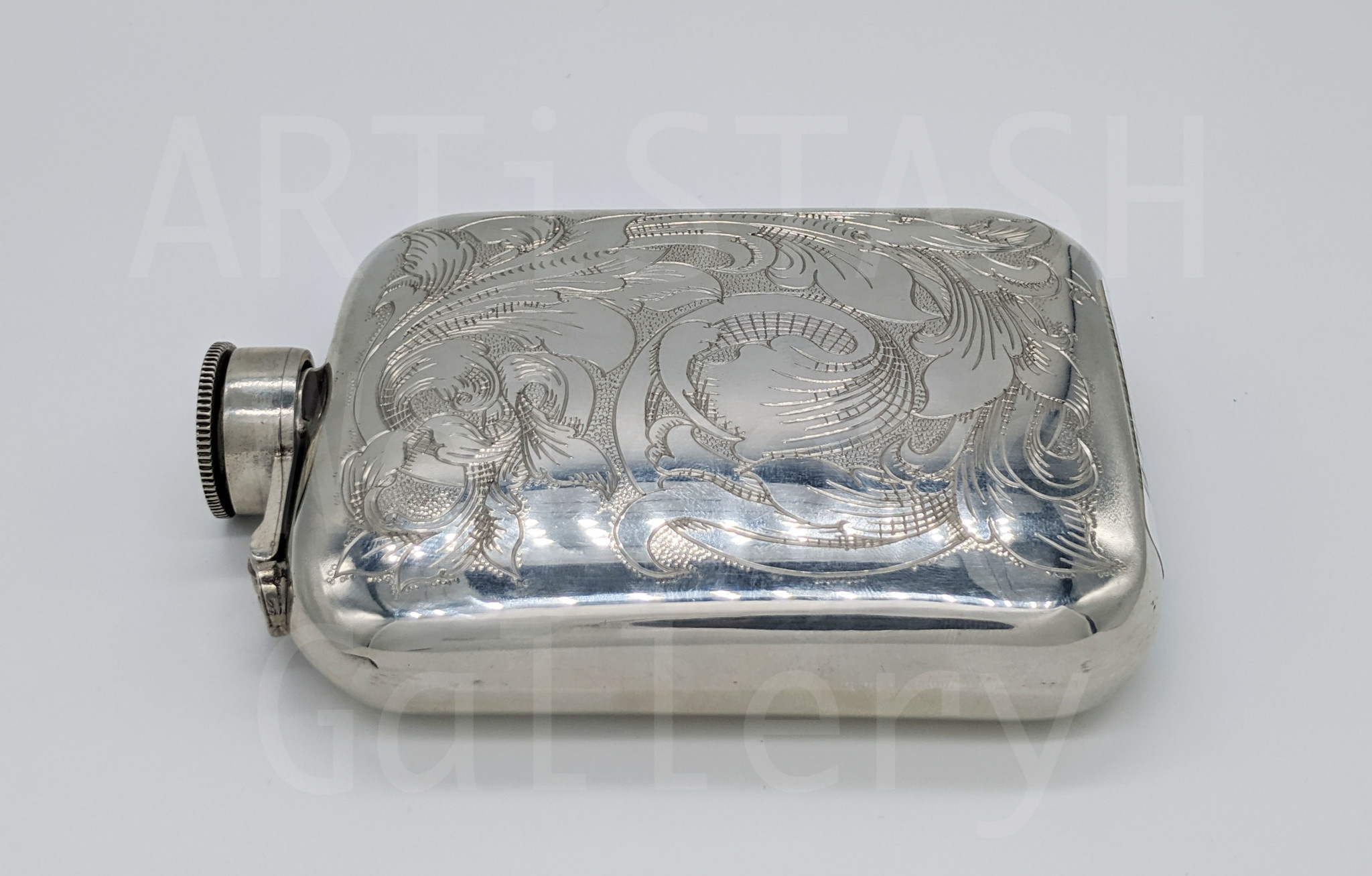Darren Burrows Engraved Flask by Darren Burrows
