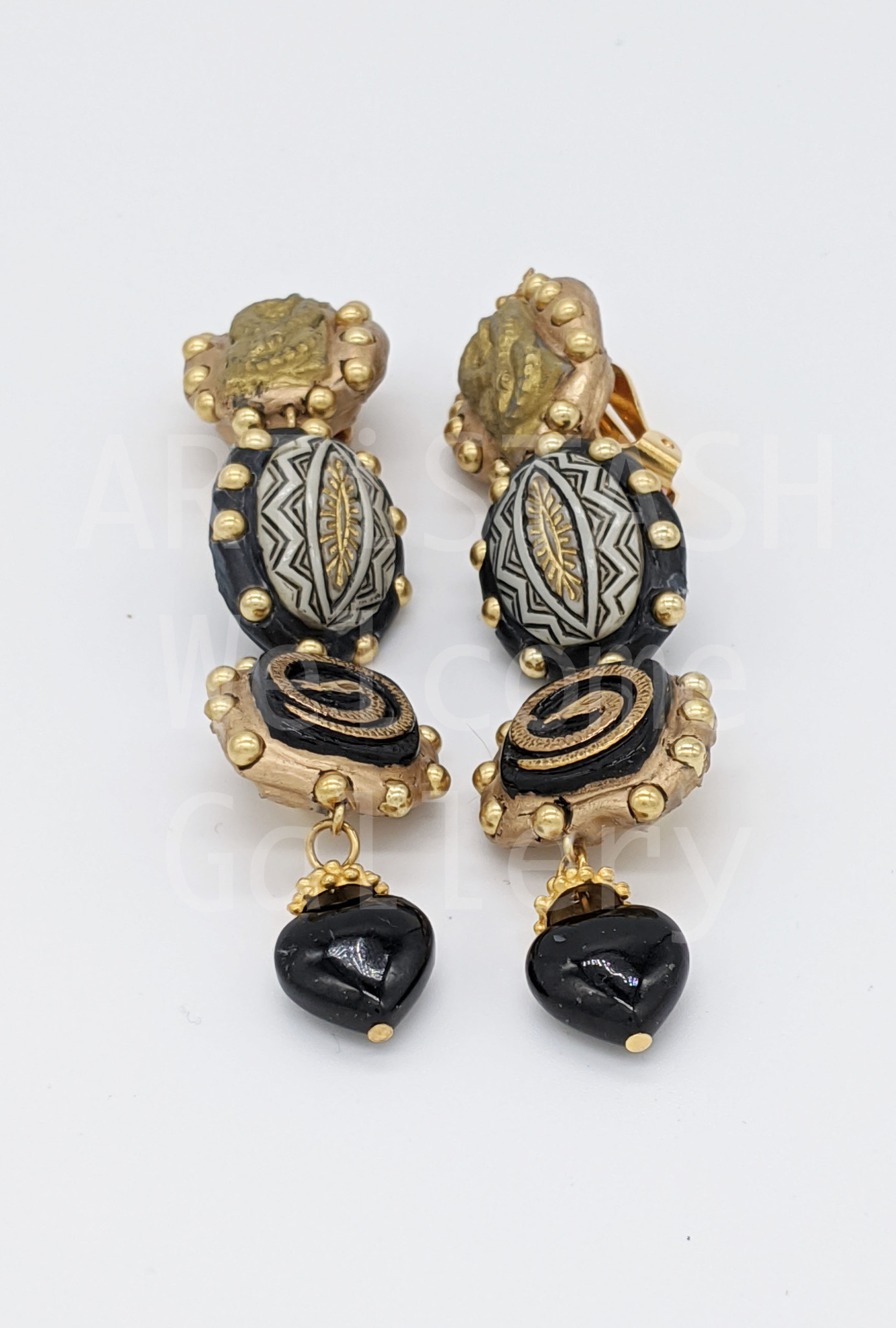 Richard Minadeo Coiled Snake Earrings by Richard Minadeo