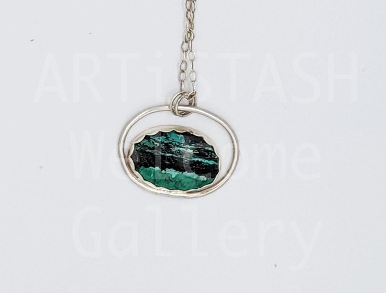 Sarilynn Studio Orbit Turquoise Pendant