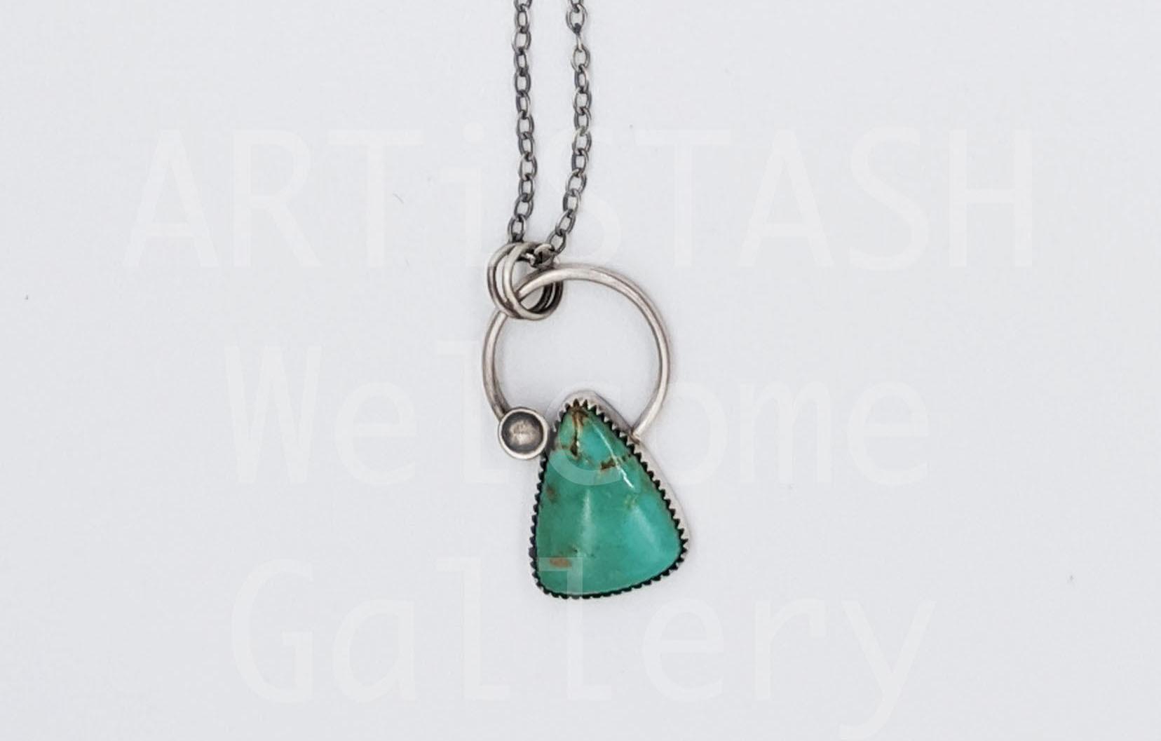 Sarilynn Studio Circle Turquoise Pendant