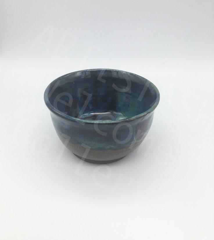 Sarah Ramirez Green and Blue Patterned Bowl