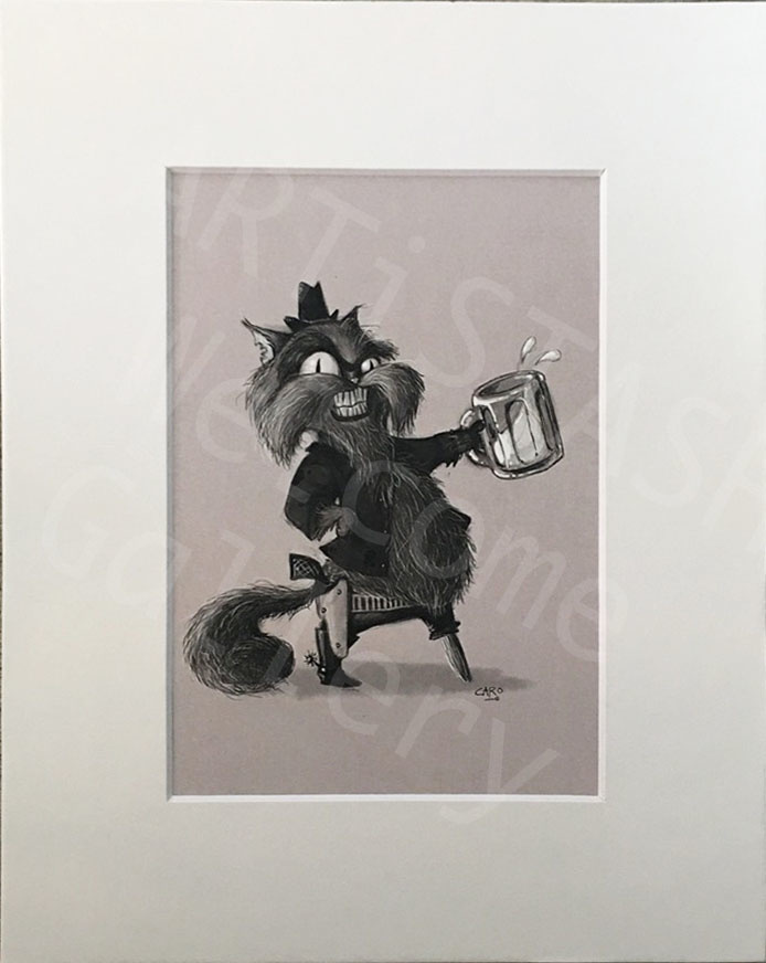 Caro Bernardini Puss n 1 Boot 8x10 Print