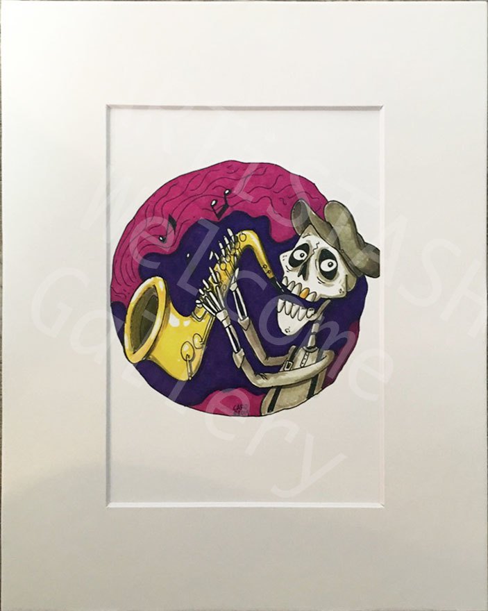 Caro Bernardini Sax Skeleton 8x10