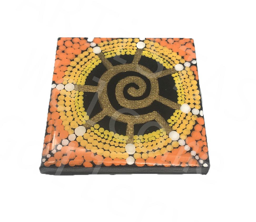 Tobias Levi Acrylic Coated Spiral Mandala 3x3