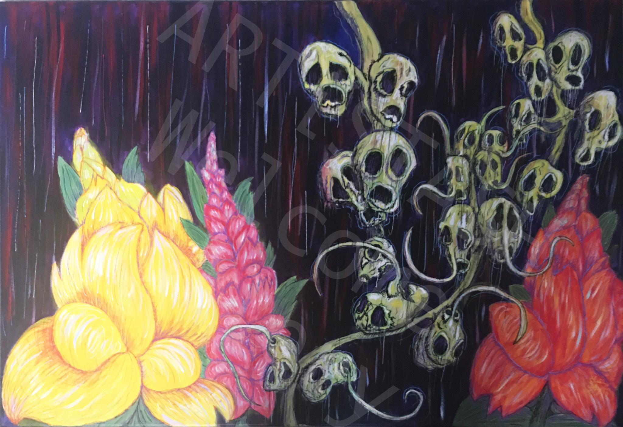 Elisa Groglio Floral Hellscape I Print