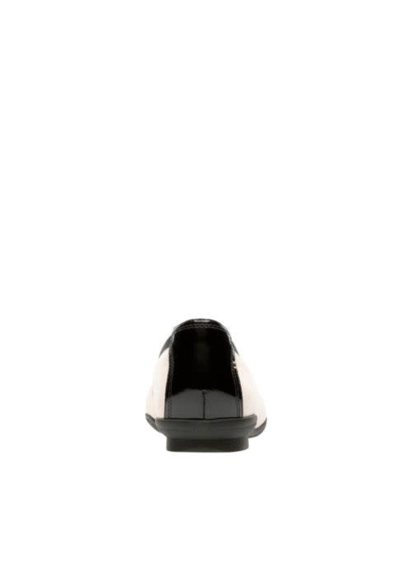 CLARKS CLARKS- NEENAH GARDEN- NUDE NUBUCK/ BLACK PATENT LEATHER COMBI
