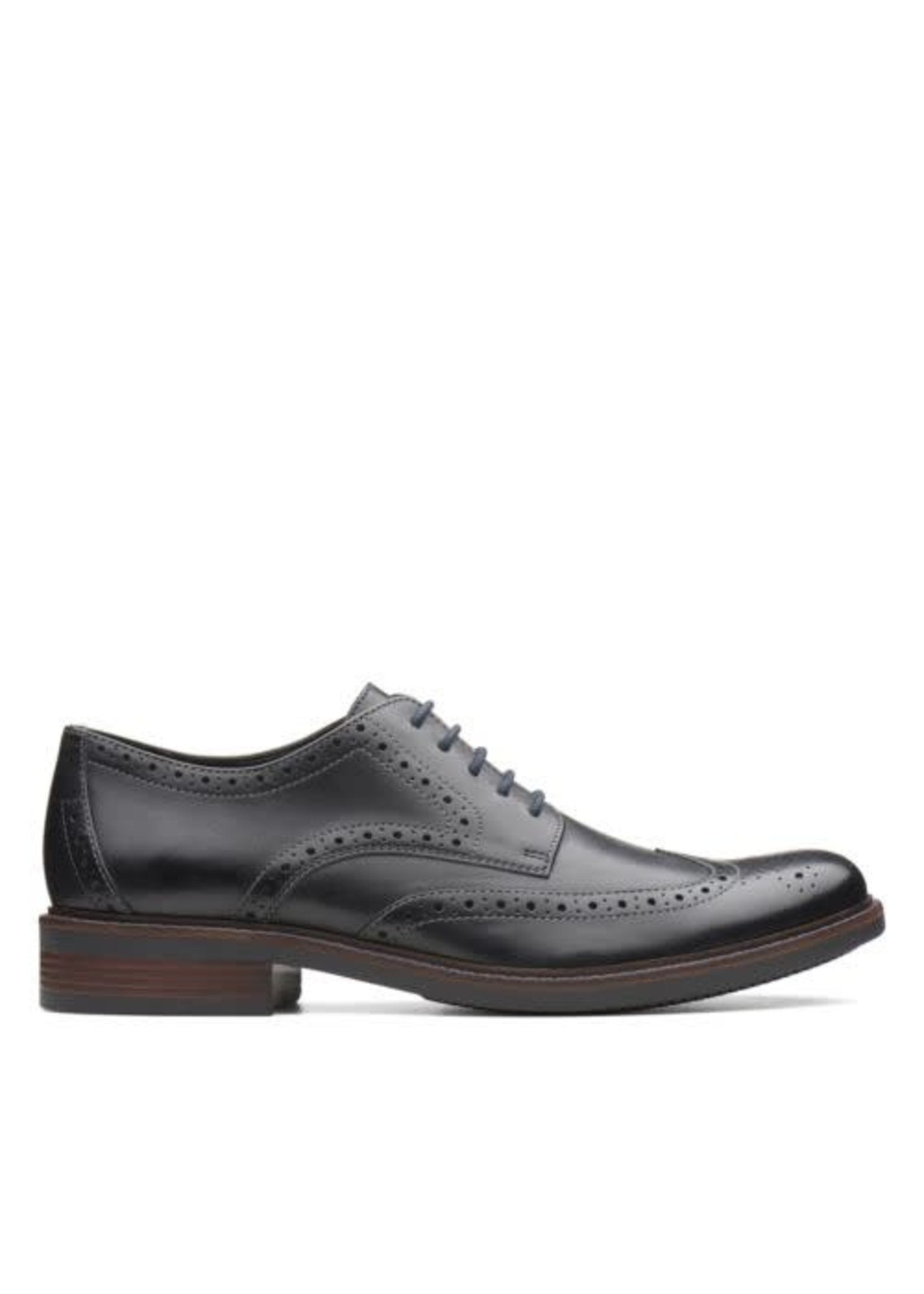 CLARKS CLARKS- MAXTON WING- BLACK LEATHER