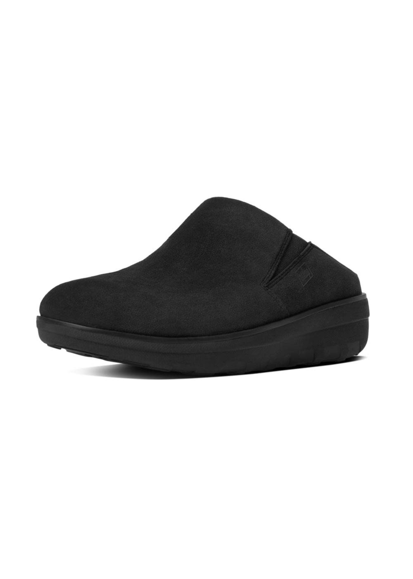 FIT FLOP FIT FLOP- LOAFF SUEDE CLOGS- BLACK