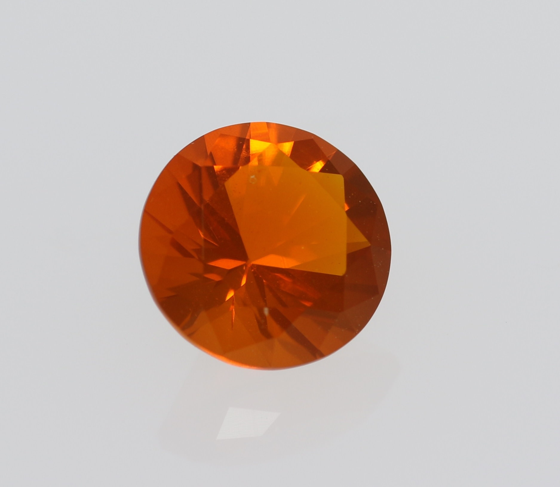 Wholesale #5118 Mexican Fire Opal Cut Stones Mexican Fire Opal Gemstone Cuts Stones Mexican Fire Faceted Round Cut Stones 4 Pcs 6 MM