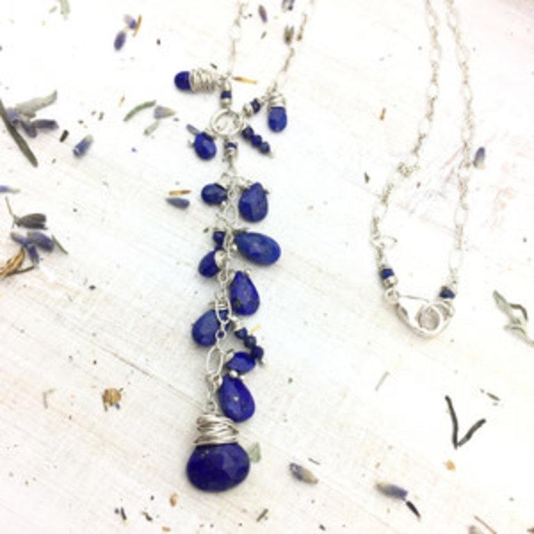Lapis Lazuli Gemstone Sterling Silver Necklace