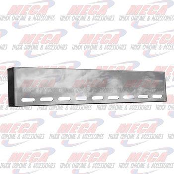 VALLEY CHROME BUMPER UNIV 18'' BOXED W/ 9 OVAL LT HOLES BLIND MOU