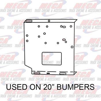 VALLEY CHROME BUMPER UNIV BRACKETS SET 20'' (SEE INFO)