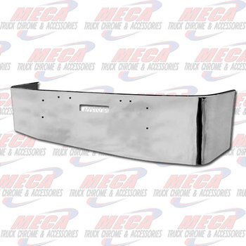 VALLEY CHROME BUMPER FL FLD 112, 120, 20'' W/ TOW HOLES S/S 1989 & NEWER, BRACKETS INCLUDED