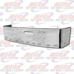 BUMPER FL FLD 112, 120, 18'' W/ TOW HOLES & 11 BB LIGHTS, S/S 1989 & NEWER, BRACKETS INCLUDED