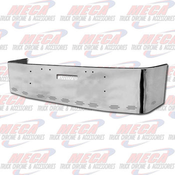VALLEY CHROME BUMPER FL FLD 112, 120, 18'' W/ TOW HOLES & 11 BB LIGHTS, S/S 1989 & NEWER, BRACKETS INCLUDED