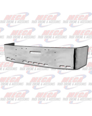 FRONT BUMPER FLD 16'' SETBACK CHROME TOW & 9 OVAL HOLES