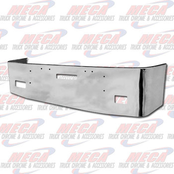 VALLEY CHROME BUMPER FL FLD 112, 120, 20'' W/ TOW & FOG LT HOLES S/S 1989 & NEWER, BRACKETS INCLUDED