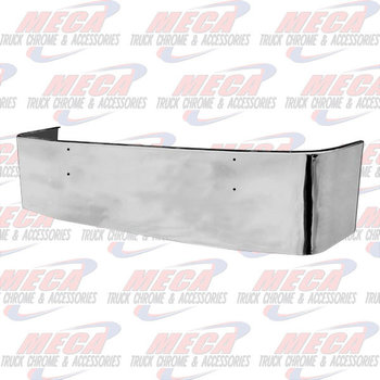 VALLEY CHROME BUMPER KW T660 22'' SS MOUNTING HOLES ONLY