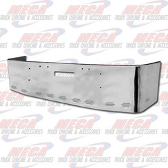 BUMPER FL FLD 112, 120, 20'' W/ TOW HOLES & 11 BB LIGHTS, S/S 1989 & NEWER, BRACKETS INCLUDED
