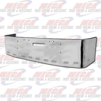 VALLEY CHROME BUMPER FL FLD 112, 120, 20'' W/ TOW HOLES & 11 BB LIGHTS, S/S 1989 & NEWER, BRACKETS INCLUDED