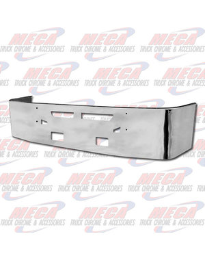FRONT BUMPER KW T660 20'' S/S TOW HOLE VENT HOLE FOG LTS