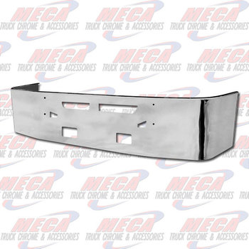 VALLEY CHROME BUMPER KW T660 20'' S/S TOW VENT FOG LIGHT HOLES