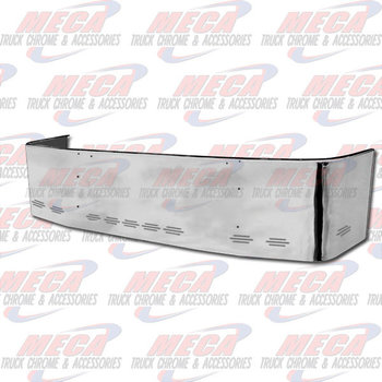 VALLEY CHROME BUMPER FL COLUMBIA 2003 & OLDER, 18'' S/S PLAIN W/ 9 BB LIGHTS, BRACKETS INCLUDED