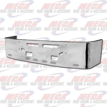 VALLEY CHROME BUMPER KW T660 18'' S/S TOW, VENT, FOG, & 6 BB LTS