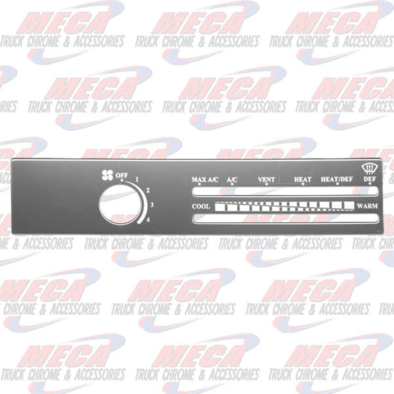 A/C CONTROL PLATE FREIGHTLINER W/O RECICLE HOLE