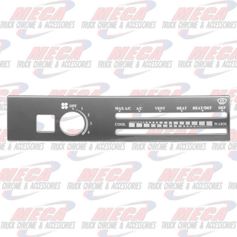 A/C CONTROL PLATE FREIGHTLINER W/ RECICLE HOLE
