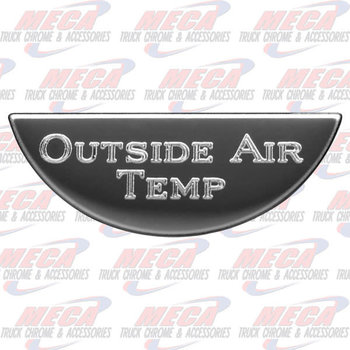 GAUGE PLATE KW OUTSIDE AI AIR TEMP EMBLEM