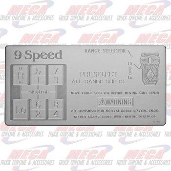 SHIFT PATTERN PLATE EATON 9SPD DIRECT KW FL PB