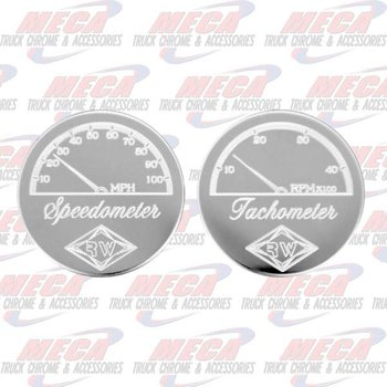 GAUGE PLATE PB SPEED/TACH W/ SCROLL DESIGN