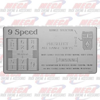 SHIFT PATTERN PLATE EATON 9SPD PERFORMACE KW FL PB