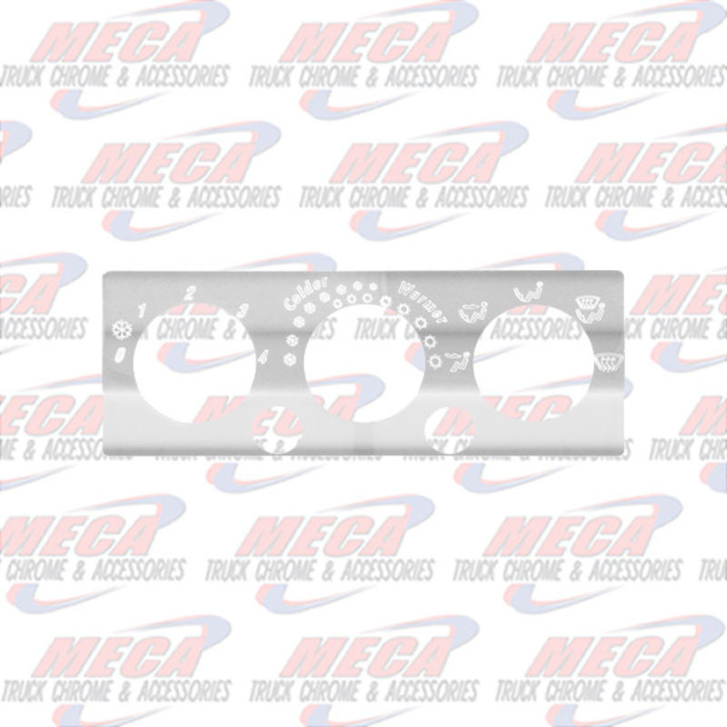 3 SWITCH A/C & HEATER CONTROL PLATE S/S